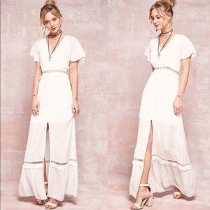 EMMIE Boho Maxi Dress - OFF WHITE